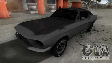 1967 Ford Mustang FBI for GTA San Andreas back left view