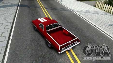 Chevrolet El Camino SS for GTA San Andreas back view