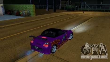2004 Toyota MR-S Mk.III for GTA San Andreas interior