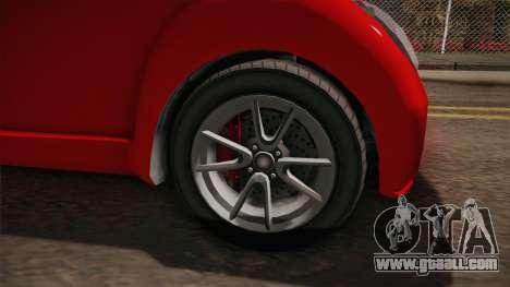 GTA 5 Benefactor Panto 4-doors for GTA San Andreas back view