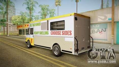 GTA 5 Brute Taco Van for GTA San Andreas back left view