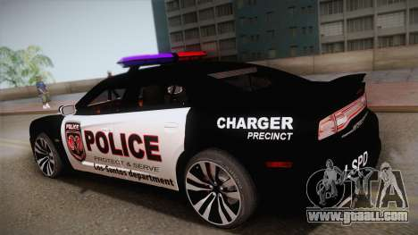 Dodge Charger SRT8 Police 2012 for GTA San Andreas left view