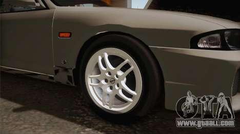 Nissan Skyline GTS25-t Mk.IX R33 Paintjob for GTA San Andreas back view