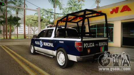 Ford F-150 Policia Municipal De Tijuana for GTA San Andreas back left view