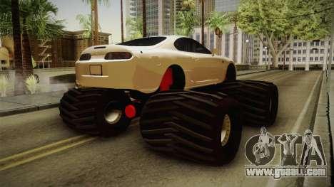 Toyota Supra Monster Truck for GTA San Andreas back left view