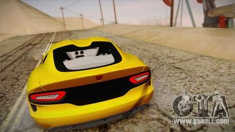 Dodge Viper SRT 2013 for GTA San Andreas inner view