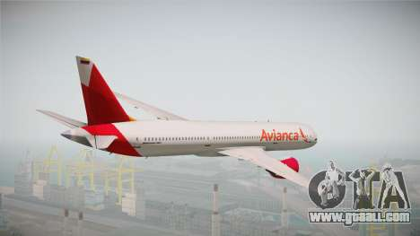 Boeing 787 Avianca for GTA San Andreas right view