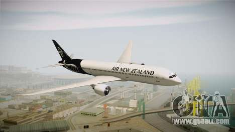 Boeing 787 Air New Zealand White Edition for GTA San Andreas back left view