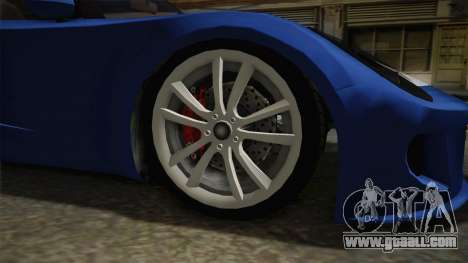GTA 5 Voltic for GTA San Andreas back view