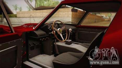 Ferrari 250 GTO (Series I) 1962 HQLM PJ1 for GTA San Andreas inner view