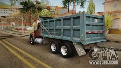 Mack RD690 Dumper 1992 v1.0 for GTA San Andreas left view