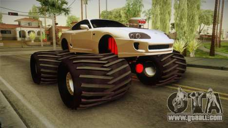 Toyota Supra Monster Truck for GTA San Andreas right view