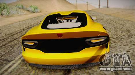 Dodge Viper SRT 2013 for GTA San Andreas upper view