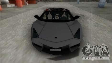 2009 Lamborghini Reventon Roadster FBI for GTA San Andreas right view