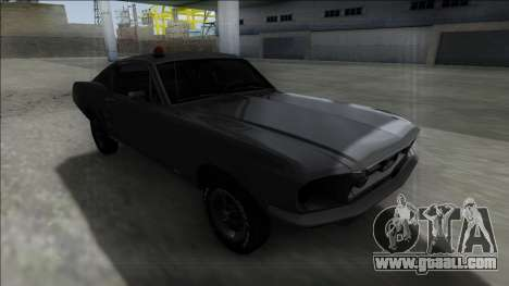 1967 Ford Mustang FBI for GTA San Andreas back view