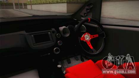 Honda Jazz GK 2014 for GTA San Andreas inner view