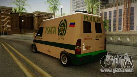 Mercedes-Benz Sprinter SA Style for GTA San Andreas back left view