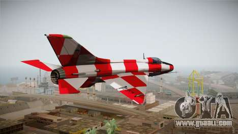 MIG-21 Kockica for GTA San Andreas left view