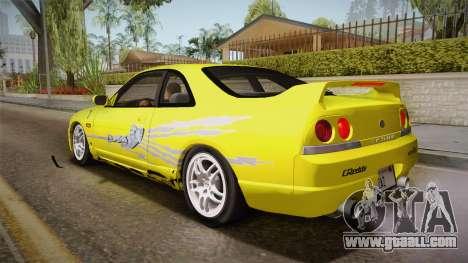 Nissan Skyline GTS25-t Mk.IX R33 Paintjob for GTA San Andreas upper view