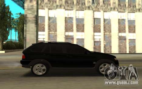 BMW X5 for GTA San Andreas back left view