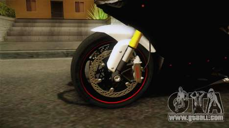 Ducati 1299 Panigale S 2016 Tricolor Black for GTA San Andreas back view