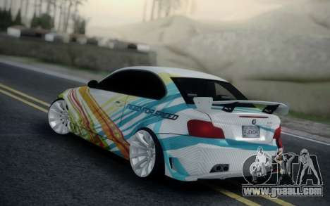 BMW 135i E82 Coupe for GTA San Andreas left view