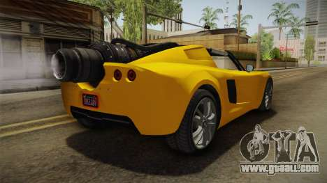 GTA 5 Coil Rocket Voltic for GTA San Andreas back left view