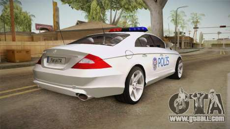 Mercedes-Benz CLS 500 Turkish Police for GTA San Andreas left view