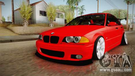 BMW 3 Series E46 CamberKinG for GTA San Andreas right view