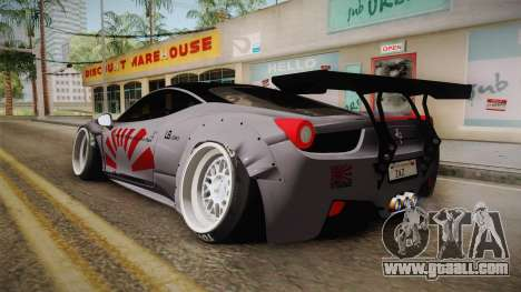 Ferrari 458 Liberty Walk Performance for GTA San Andreas left view