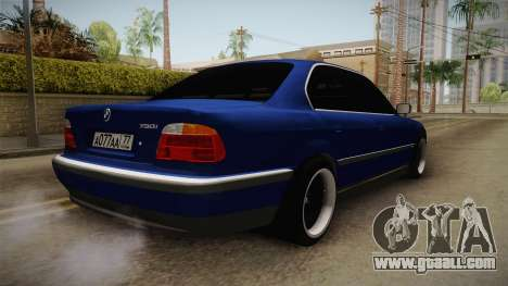 BMW 730d E38 for GTA San Andreas back left view