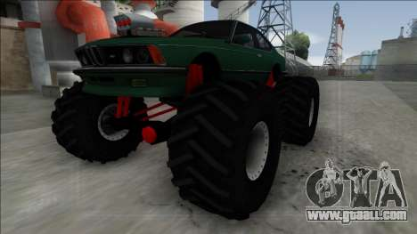 1984 BMW M6 E24 Monster Truck for GTA San Andreas back left view