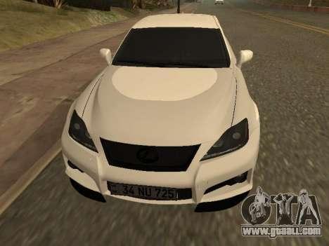 Lexus IS F Armenian for GTA San Andreas back view