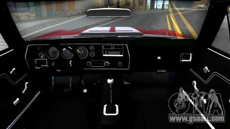 Chevrolet El Camino SS for GTA San Andreas inner view