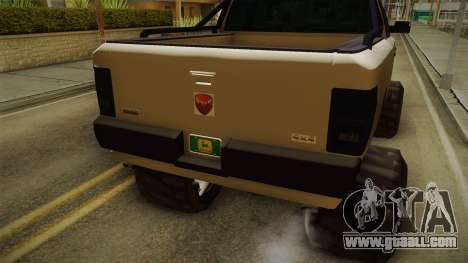 GTA 5 Bison 4x4 for GTA San Andreas inner view