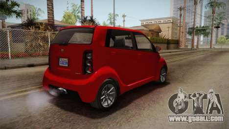 GTA 5 Benefactor Panto 4-doors for GTA San Andreas back left view