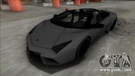 2009 Lamborghini Reventon Roadster FBI for GTA San Andreas back left view
