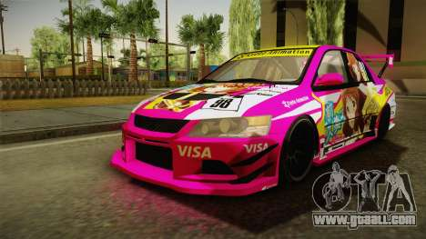Mitsubishi Lancer Evo IX Oumae Kumiko Itasha for GTA San Andreas right view