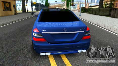 Mercedes-Benz S65 AMG for GTA San Andreas back left view