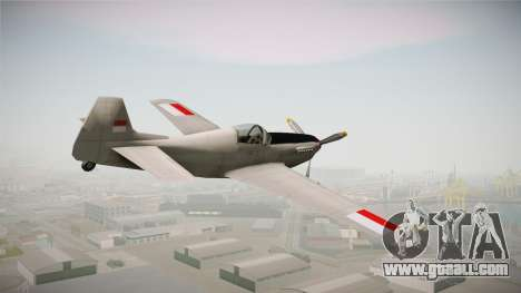 Rustler Indonesian Air Force v2 for GTA San Andreas left view
