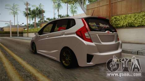 Honda Jazz GK 2014 for GTA San Andreas back left view