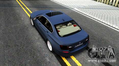 BMW 520d F10 2012 for GTA San Andreas back view