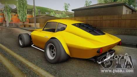 GTA 5 Invetero Coquette Custom for GTA San Andreas left view