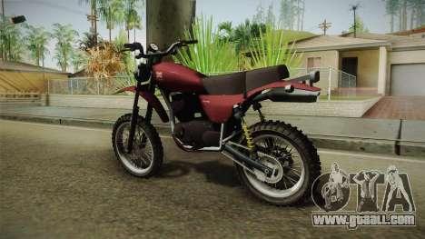 GTA 5 Dinka Enduro for GTA San Andreas left view