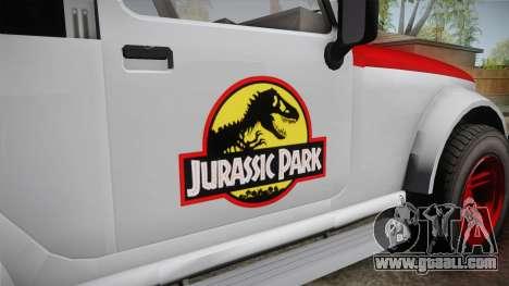 GTA 5 Canis Mesa Jurassic Park IVF for GTA San Andreas inner view