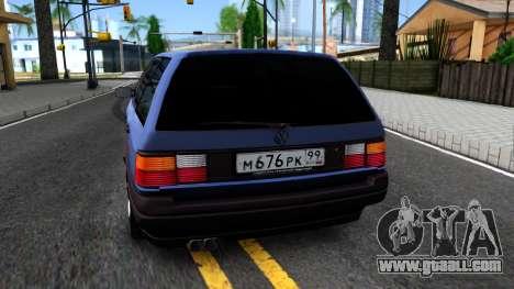Volkswagen Passat B3 Wagon for GTA San Andreas back left view