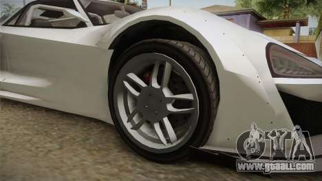 GTA 5 Progen Itali GTB Custom IVF for GTA San Andreas back view