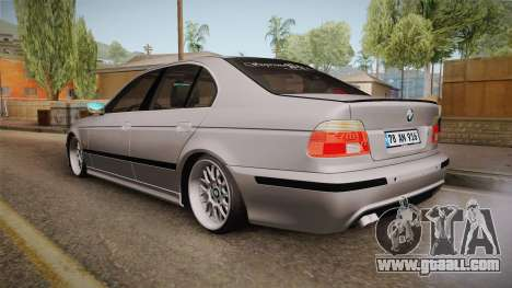 BMW 530i E39 for GTA San Andreas back left view
