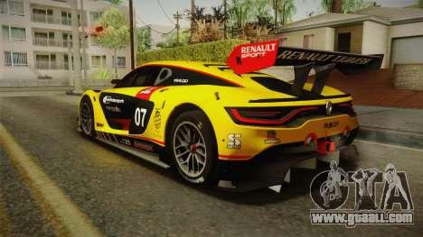 Renault Sport R.S.01 PJ3 for GTA San Andreas engine
