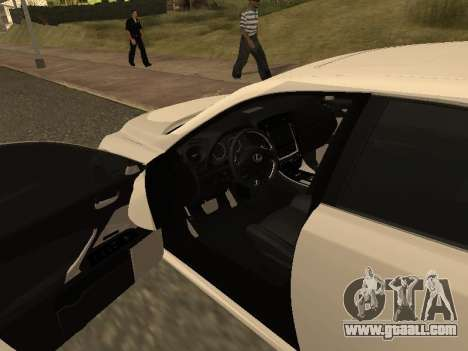 Lexus IS F Armenian for GTA San Andreas upper view
